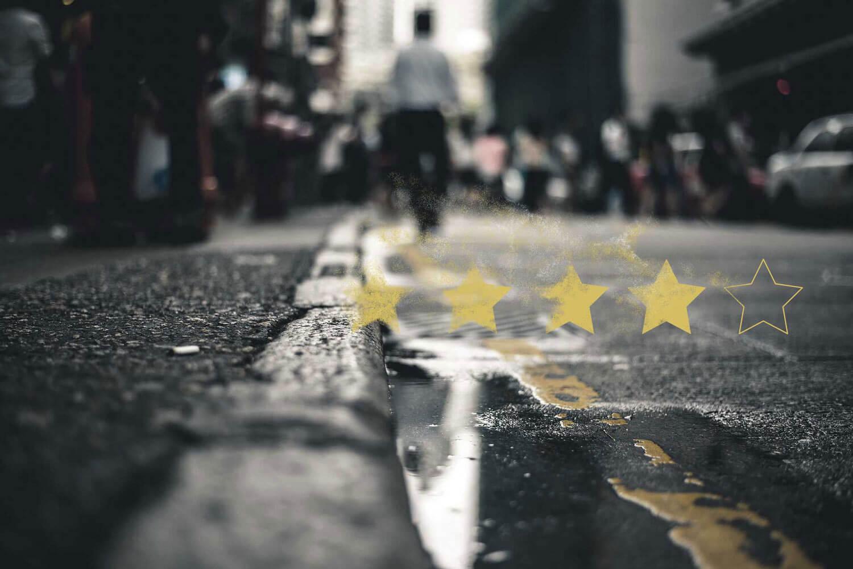 Scrap trade - we use rating and reviews stars