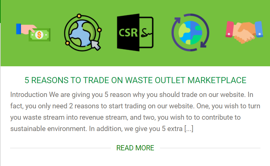 5 reasons to trade on waste outlet marketplace